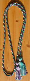 Purple ,Sliver and Teal  Intertwined Graduation Honor Cord