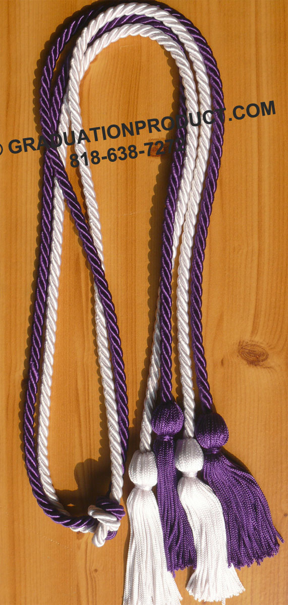 Purple And White Double Honor Cord