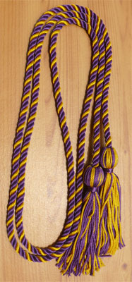 Purple & Gold  Intertwined Graduation Honor Cord