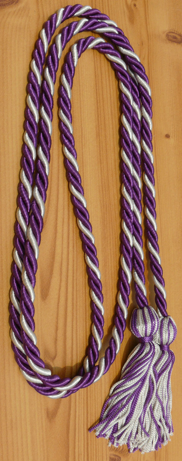 Purple Silver Honor Cords