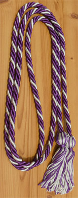 Purple & Silver  Intertwined Graduation Honor Cord
