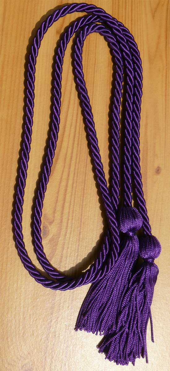 Purple Single Honor Cords