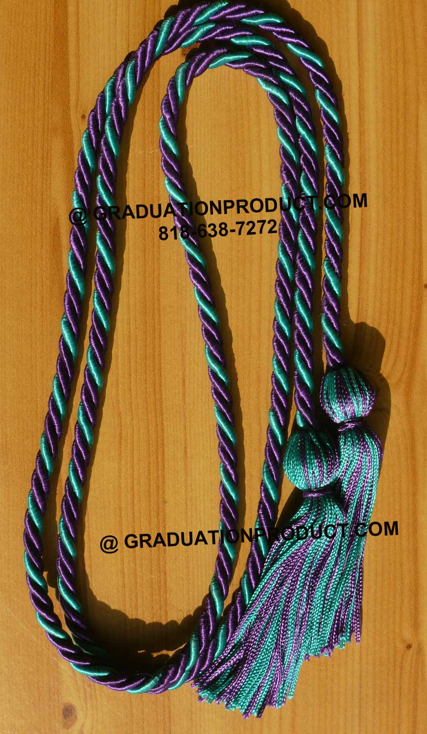 Purple And Teal Green Honor Cords