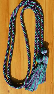 Purple & Teal Intertwined Graduation Honor Cord