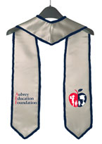 Aubrey Education Foundation Silver Graduation Stole