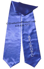 Royal Blue One Side Embroidered Graduation Stole