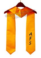 AFS One side Embroidery Graduation Stole