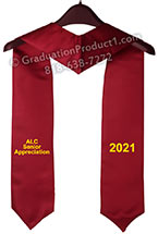 ALC Senior Appreciation Maroon Graduation Stole