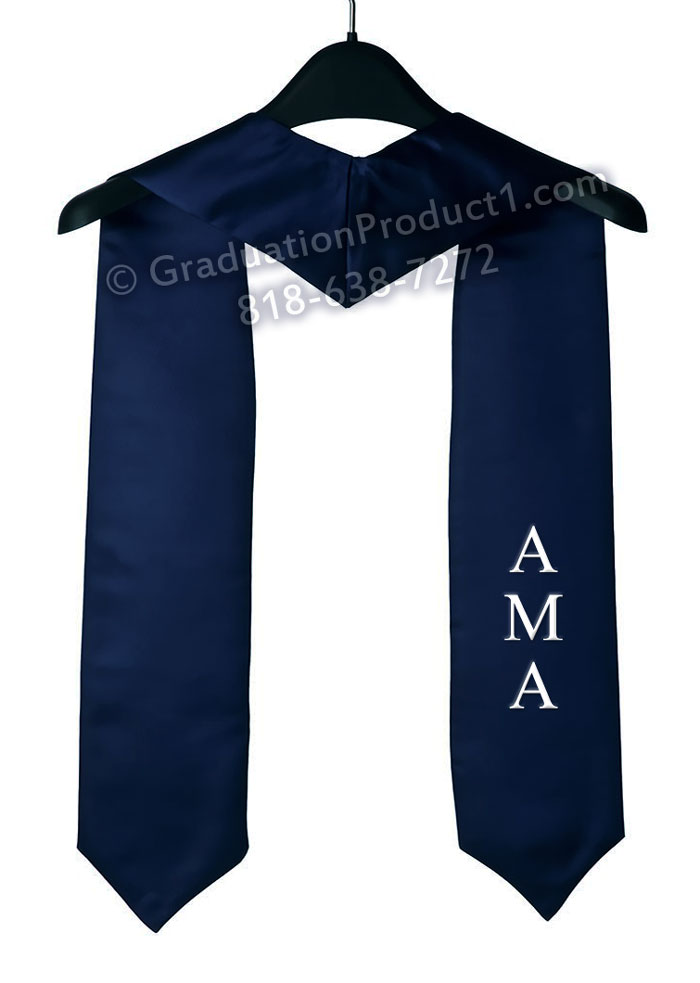 Ama Navy Blue Graduation Stole