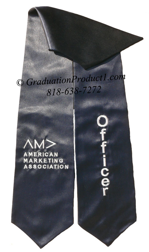 Ama Officer Navy Blue Graduation Stole