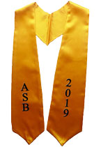 ASB 2019 Gold Graduation Stole