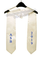 ASB 2019 White Graduation Stole