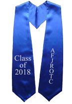 AFJROTC Royal Blue Graduation Stole