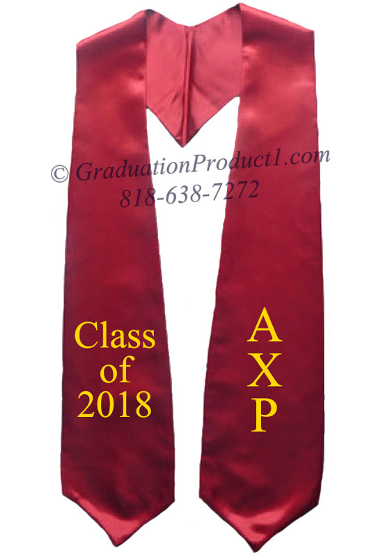 Alpha Chi Rho Maroon Greek Graduation Stole