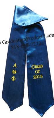 Alpha Theta Phi Greek Graduation Stole