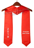 American Red Cross Red Graduation Stole