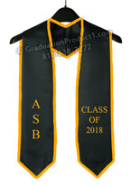 ASB Class of 2018 Graduation Stole With Gold Trim