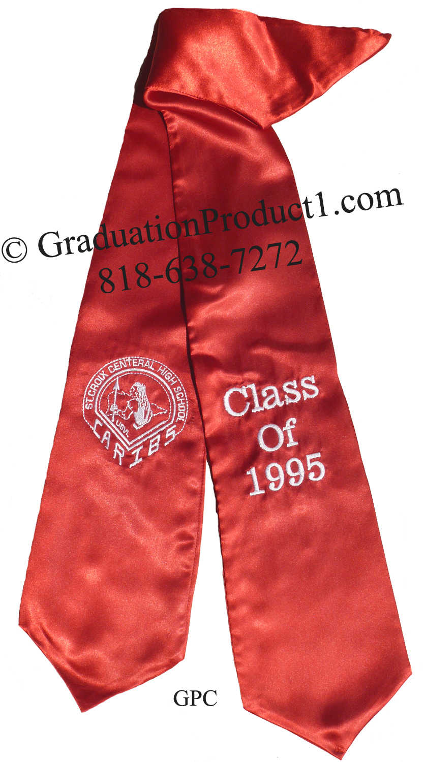Caribs Red Graduation Stole