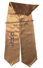 Copper One Side Embroidered Graduation Stole