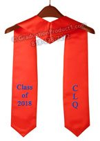 CLQ Class of 2018 Red Graduation Stole