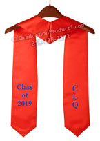 CLQ Class of 2019 Red Graduation Stole