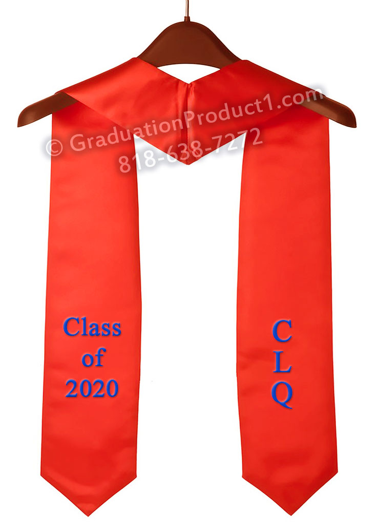 Clq Class Of 2020 Red Graduation Stole
