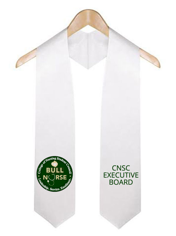 Cnsc Executive Board White Graduation Stole