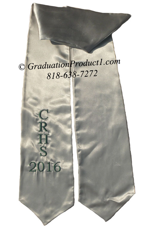 Crhs 2016 Silver Graduation Stole