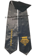 Black Two Side Embroidered Graduation Stole with two side Logo