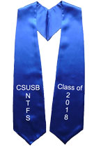 CSUSB NTFS Class of 2018 Royal Blue Graduation Stole