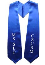 CSUSM MS SLP Royal Blue Graduation Stole