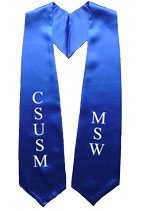 CUSUSM MSW Royal Blue Graduation Stole