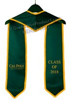 Cal Poly Graduation Stole with trim