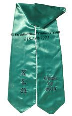 Chi Sigma Omega Greek Graduation Stole