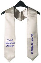 Chief Financial Officer Silver Graduation stole