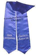 Child Development Royal Blue Graduation Stole