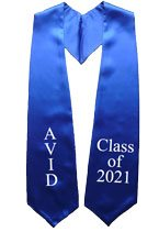Avid Class of 2021 Royal Blue Graduation Stole