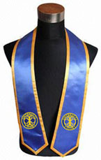 Interact Club Royal Blue Graduation Stole With Gold Trim