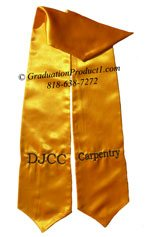DJCC Carpentry Gold Graduation Stole