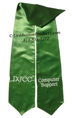 DJCC Computer Support Kelly Green Graduation Stole