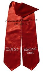 DJCC Medical Asst Maroon Graduation Stoles