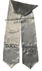 DJCC Patient Care Silver Graduation Stole