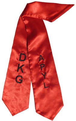 DKG APYL Red Graduation Stole