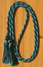Dark Green & Black  Intertwined Graduation Honor Cord