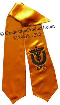 Eta Phi Epsilon Greek Graduation Stole with Logo