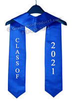 Class of 2021 Royal Blue Stole