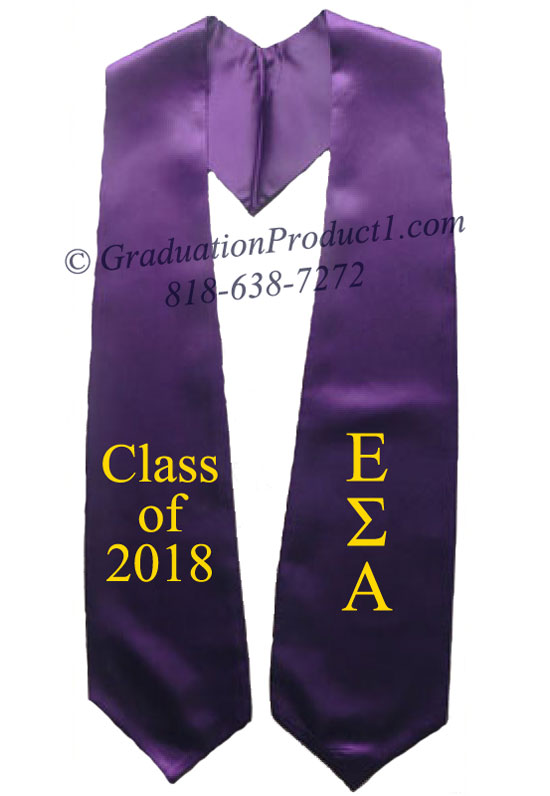 Epsilon Sigma Alpha Purple Greek Graduation Stole