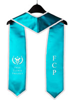 Free Clinic Project Turquoise Blue Graduation Stole