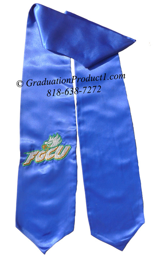 Fgcu Royalblue Graduation Stole
