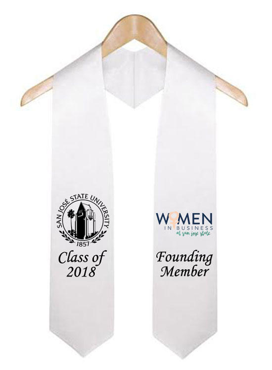 Founding Member White Graduation Stole